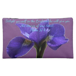 A&X Royal Iris A~Heart Cosmetic Bag