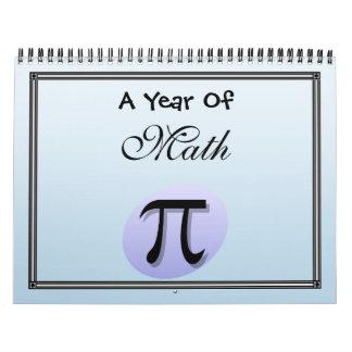 A Year of Math Wall Calendar