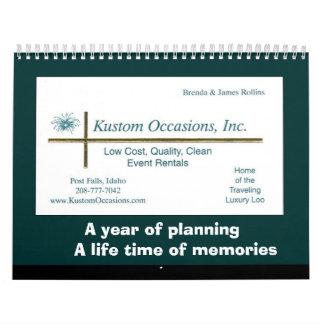 A year of planning, a life time of memories wall calendar