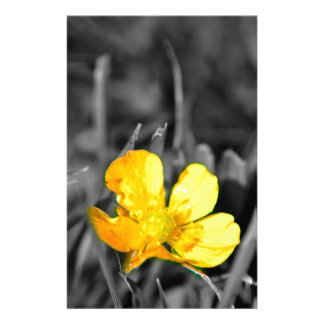 a yellow flower stationery