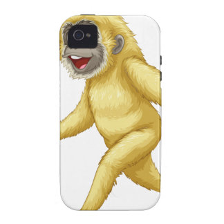 A yellow gorilla vibe iPhone 4 cover