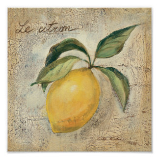 A Yellow Lemon Fruit Poster
