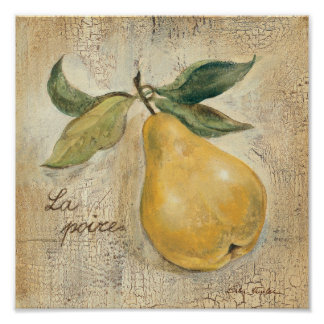 A Yellow Pear Poster