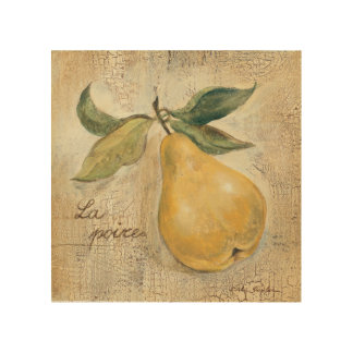 A Yellow Pear Wood Wall Art
