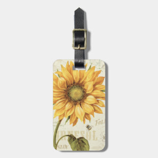 A Yellow Sunflower Luggage Tag