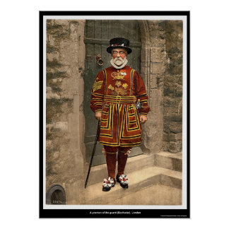 A yoeman of the guard (Beefeater), London, England Poster