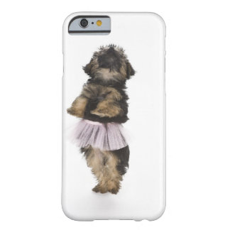 A Yorkie-poo puppy in a tutu on her hind legs. Barely There iPhone 6 Case