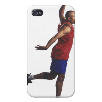 a young adult male basketball player flies iPhone 4 cover