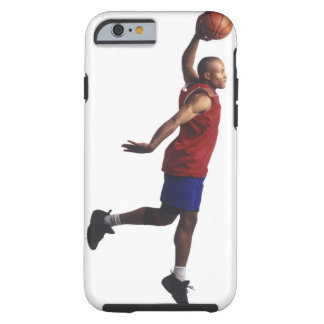 a young adult male basketball player flies tough iPhone 6 case