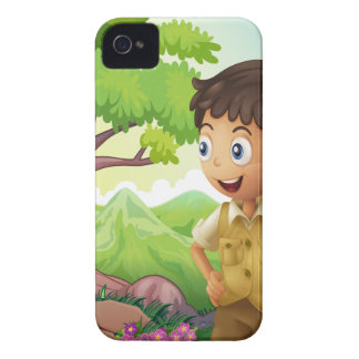 A young boyscout in the forest Case-Mate iPhone 4 case