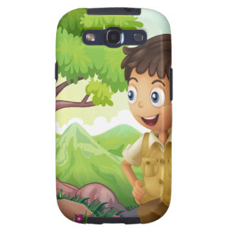 A young boyscout in the forest samsung galaxy s3 case