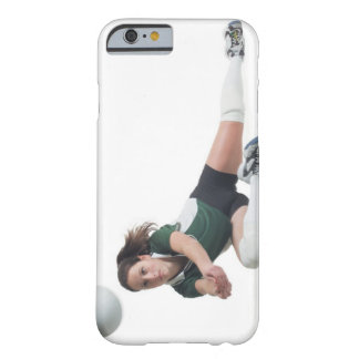 a young caucasian female volleyball player in a barely there iPhone 6 case
