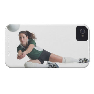 a young caucasian female volleyball player in a iPhone 4 covers