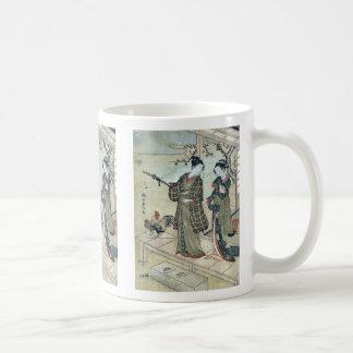 A young dandy and a woman by Suzuki,Harunobu Mug