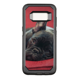 A Young French Bulldog Lying On A Couch OtterBox Commuter Samsung Galaxy S8 Case