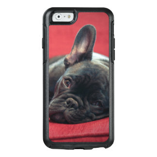 A Young French Bulldog Lying On A Couch OtterBox iPhone 6/6s Case