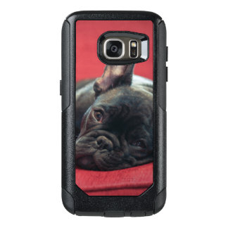 A Young French Bulldog Lying On A Couch OtterBox Samsung Galaxy S7 Case