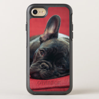 A Young French Bulldog Lying On A Couch OtterBox Symmetry iPhone 8/7 Case
