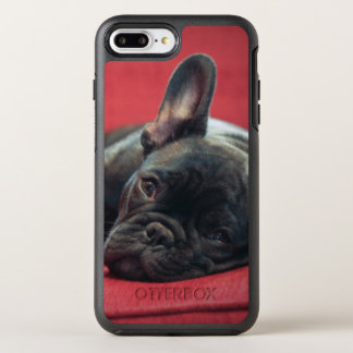 A Young French Bulldog Lying On A Couch OtterBox Symmetry iPhone 8 Plus/7 Plus Case