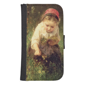 A Young Girl in a Field Samsung S4 Wallet Case