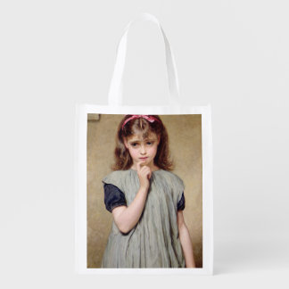 A Young Girl in the Classroom, 1876 (oil on canvas Grocery Bag