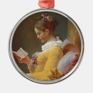 A Young Girl Reading, The Reader by J. Fragonard Christmas Ornament