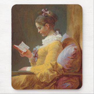 A Young Girl Reading, The Reader by J. Fragonard Mouse Mat