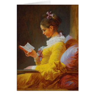 A Young Girl Reading (The Reader) Greeting Card