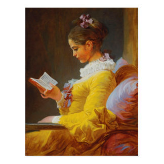 A Young Girl Reading (The Reader) Postcard