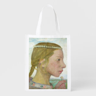 A Young Girl Reusable Grocery Bag