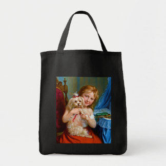 A Young Girl With A Bichon Frise (dog) ~ Bag