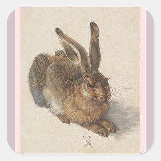 A Young Hare Square Sticker