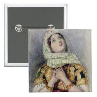 A Young Lady in Turkish Dress (w/c over pencil on 15 Cm Square Badge