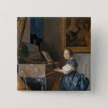 A Young Lady Seated at a Virginal, c.1670 15 Cm Square Badge