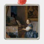 A Young Lady Seated at a Virginal, c.1670 Christmas Ornament