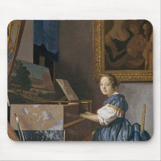 A Young Lady Seated at a Virginal, c.1670 Mouse Pads