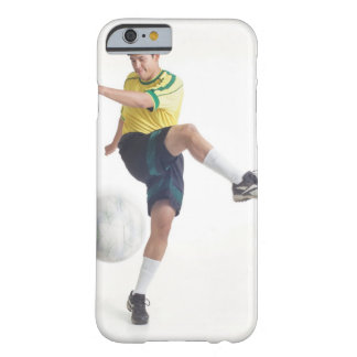 a young latin male wears a yellow soccer jersey barely there iPhone 6 case