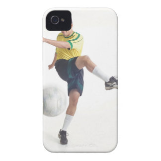 a young latin male wears a yellow soccer jersey iPhone 4 Case-Mate case