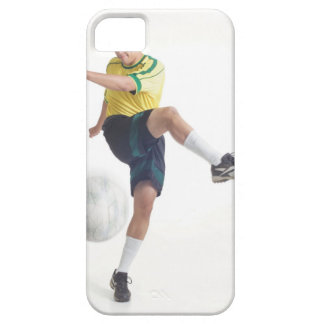 a young latin male wears a yellow soccer jersey iPhone 5 case