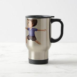 A young man doing yoga stainless steel travel mug