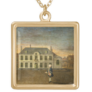 A Young Nobleman Standing before a Mansion (see al Gold Plated Necklace