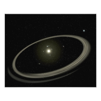 A young star circled by full-sized planets photograph