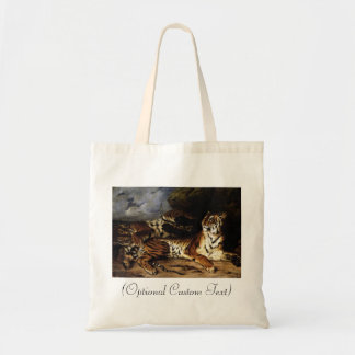 A Young Tiger with its Mother Budget Tote Bag
