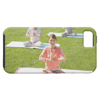 A young woman doing yoga case for the iPhone 5