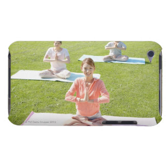A young woman doing yoga iPod touch covers
