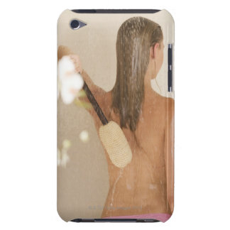 A young woman in a shower iPod touch Case-Mate case