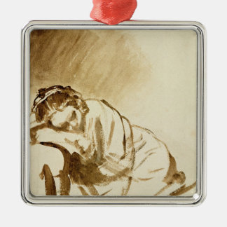 A Young Woman Sleeping  c.1654 Christmas Ornament