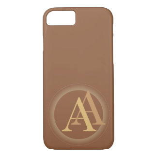 """A&"" your monogram on ""iced coffee"" color iPhone 7 Case"