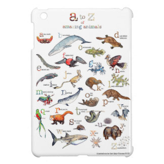 A-Z of amazing animals iPad Mini Cover