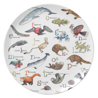 A-Z of amazing animals Plate